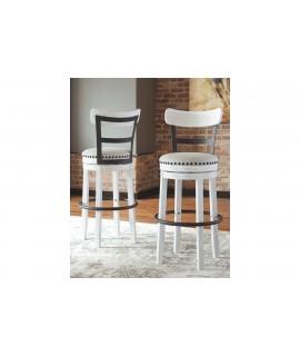 Bentonite Bar Height Bar Stool - White