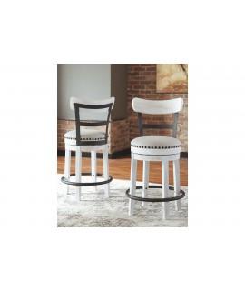 Bentonite Counter Height Bar Stool - White
