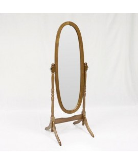 Royal Cheval Mirror - Oak Finish