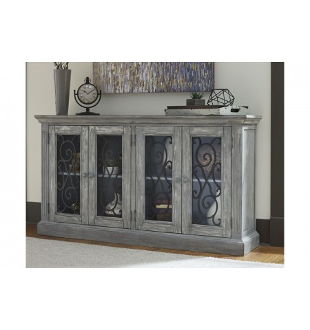 "Portgate 65"" Accent Cabinet - Antique Gray"