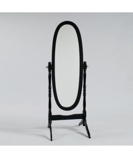 Antique Black Cheval Mirror