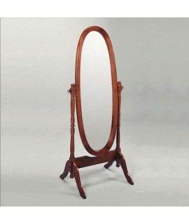 Antique Cherry Cheval Mirror