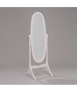 Antique White Cheval Mirror
