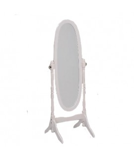 Antique White Cheval Mirror