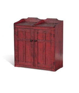 Tioga Red Double Trash Container