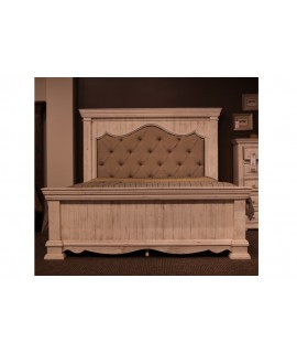 Ardencroft White King Size Panel Bed