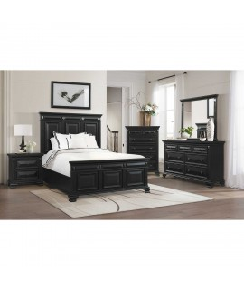 Bridgestone Black Queen Bedroom Set