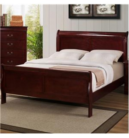Lafayette Cherry Queen Size Sleigh Bed
