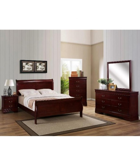 Lafayette Cherry Queen Size Bedroom Set