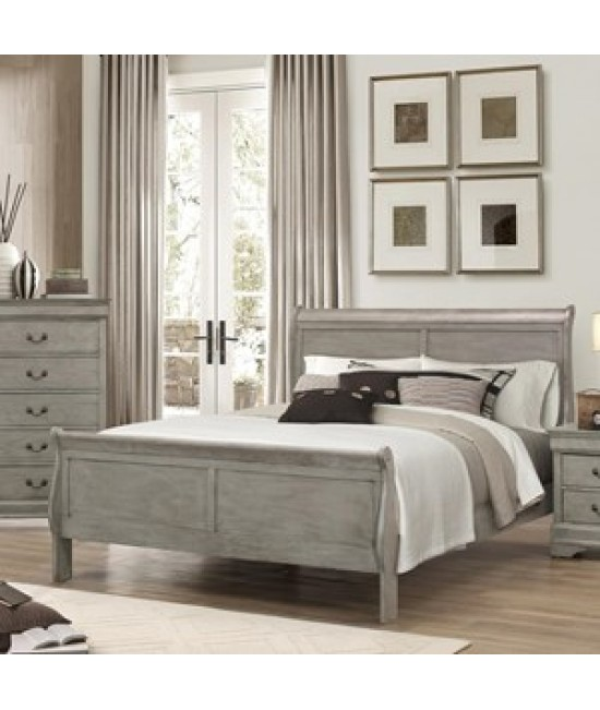 Lafayette Gray Queen Size Sleigh Bed