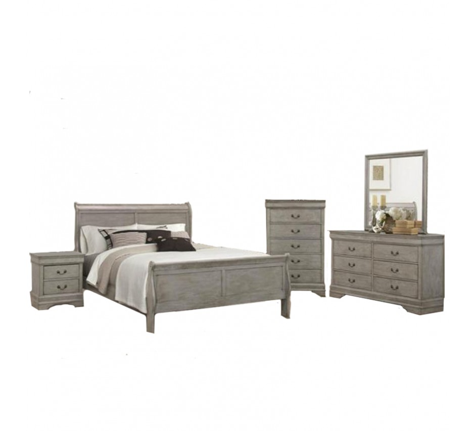 Gray Queen Size Bedroom Set
