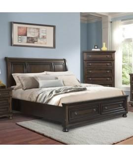 Linden Queen Sleigh Storage Bed
