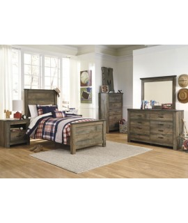 Maroa Twin Size Panel Bedroom Set