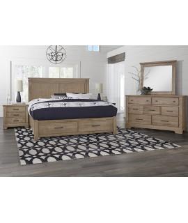 Natural Rustic 4pc. King Bedroom Set
