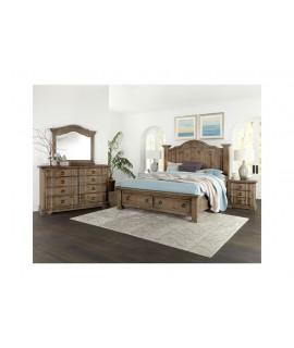 Saddle Grey Queen Size Bedroom Set