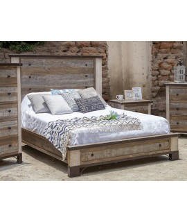 Smyrna Queen Panel Low Profile Bed