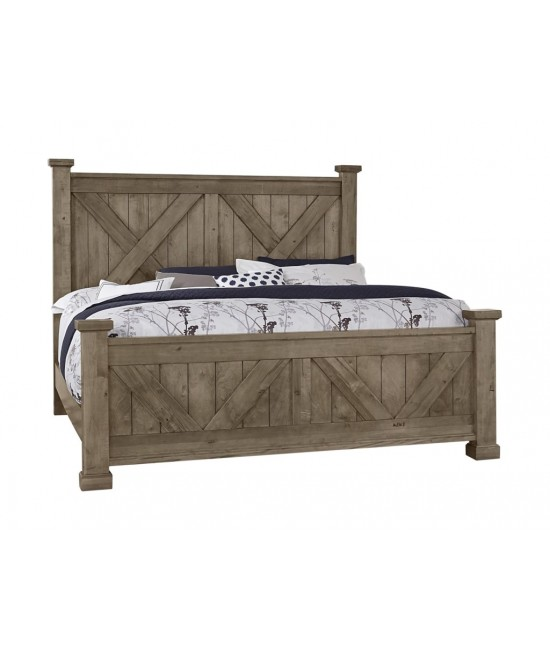 Stone Grey Queen Size Bed