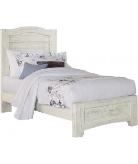 Weathered White Twin Bed