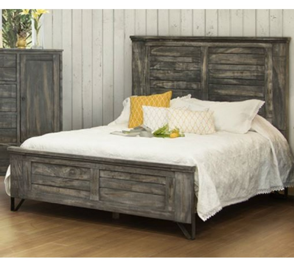 woodlawn meadows king size panel bed. Black Bedroom Furniture Sets. Home Design Ideas