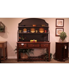 Amish Cherry Server & Hutch