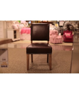 Natural Maple Leather Side Chair