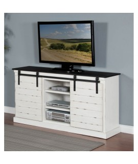 Anmoore White TV Stand