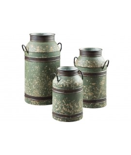 Zach 3pc. Milk Can Set