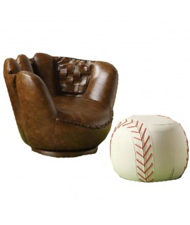 Baseball Chair & Ottoman