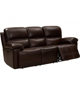 Brockway Walnut Power Reclining Sofa