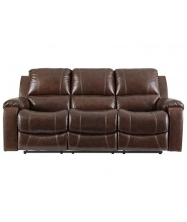 Brown Hyde Reclining Sofa