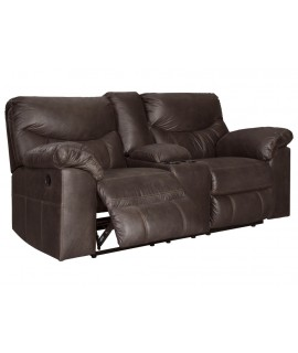 Coshocton Dark Power Reclining Loveseat