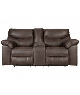 Coshocton Dark Reclining Loveseat