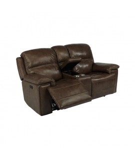 Fenwick Dark Power Reclining Loveseat