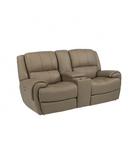 Nance Dark Power Reclining Loveseat