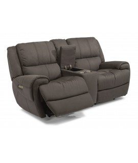Nance Gray Power Reclining Loveseat