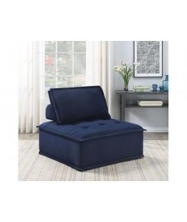 Blue Button Armless Chair