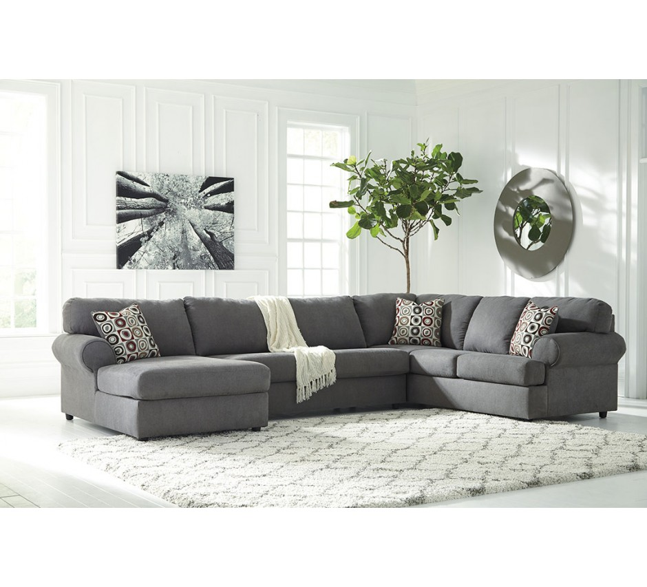 Buck Gray Sectional  sc 1 st  Star Furniture : gray sectional - Sectionals, Sofas & Couches