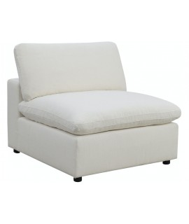 Lovesac White Armless Chair