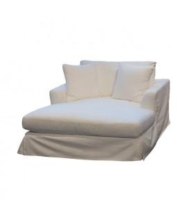 Pure White Chaise