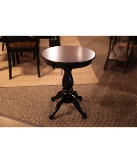 Antique Black Chair Side Table