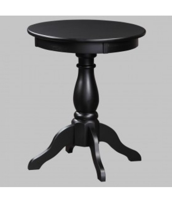 Antique Black Chairside Table