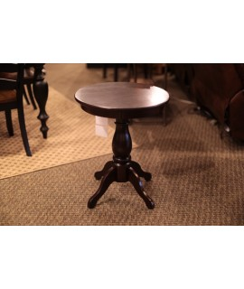 Antique Espresso Chair Side Table