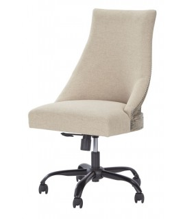 Linen Swivel Desk Chair