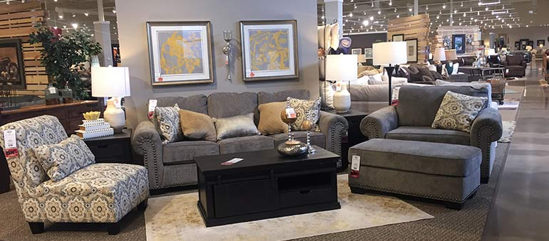 Gray Upholstered Sofa Set